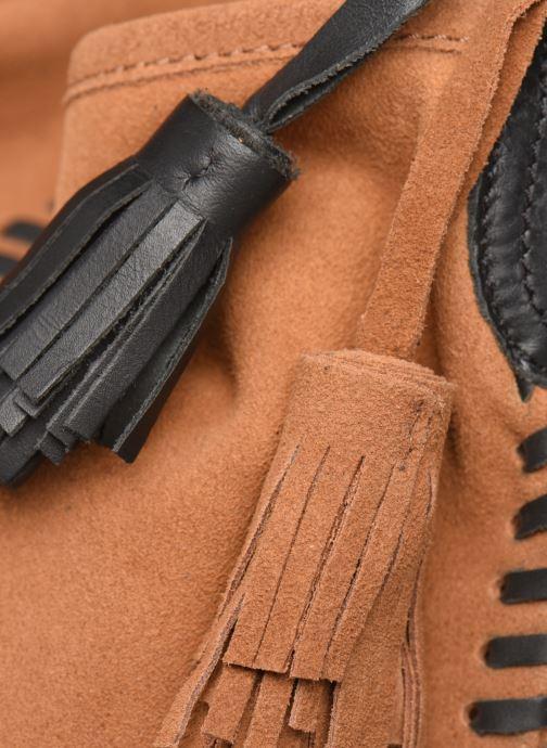 Handväskor Pepe jeans ARLET LEATHER BAG Brun bild från vänster sidan