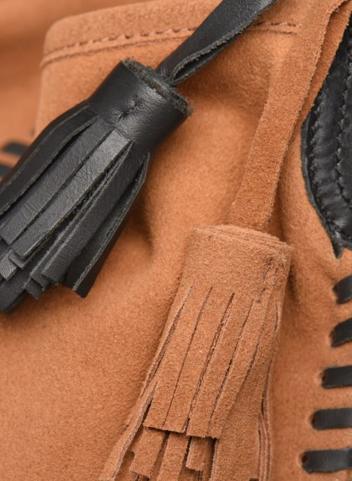 Sacs à main Pepe jeans ARLET LEATHER BAG Marron vue gauche
