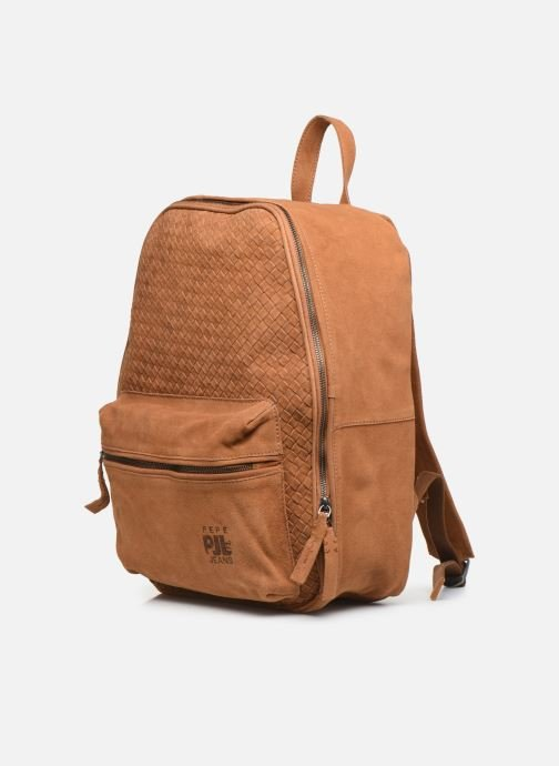 Rucksacks Pepe jeans BELENO LEATHER BACKPACK Brown model view