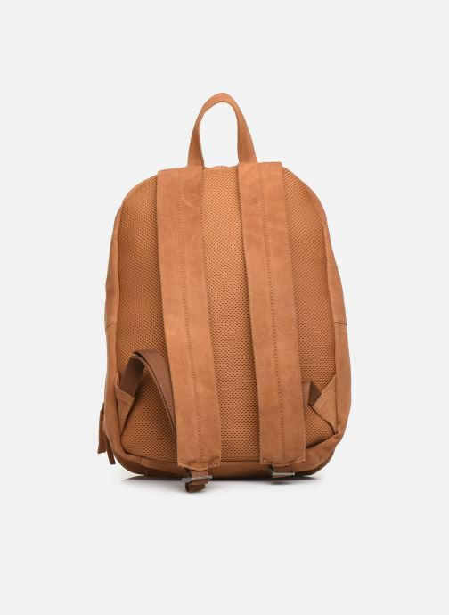 Rucksacks Pepe jeans BELENO LEATHER BACKPACK Brown front view