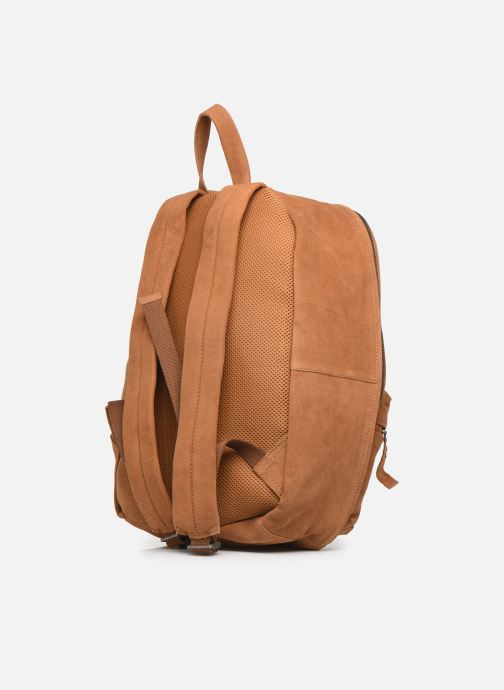 Rucksacks Pepe jeans BELENO LEATHER BACKPACK Brown view from the right