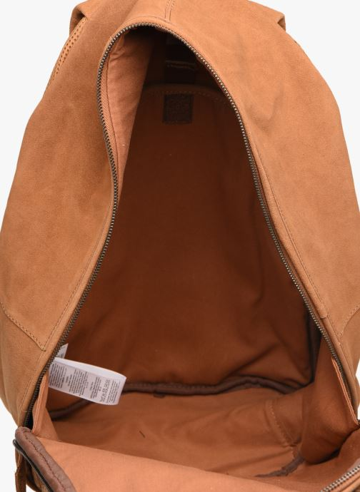 Rucksacks Pepe jeans BELENO LEATHER BACKPACK Brown back view