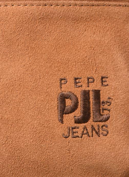 Mochilas Pepe jeans BELENO LEATHER BACKPACK Marrón vista lateral izquierda