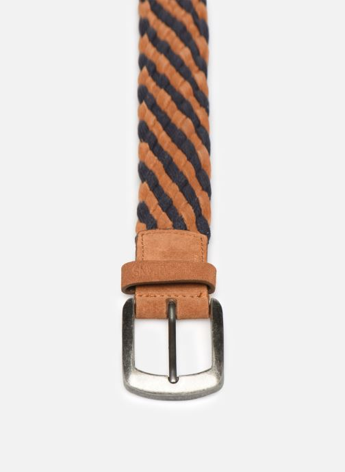 Cinture Pepe jeans PEÑO LEATHER BELT Marrone modello indossato