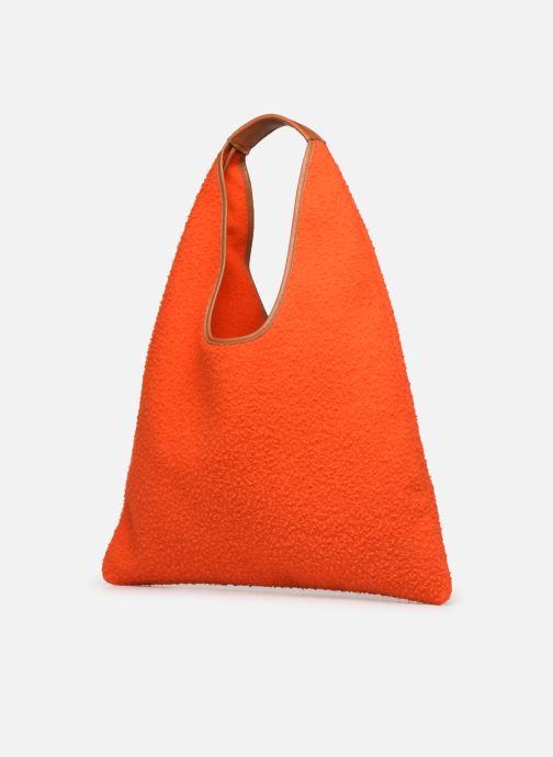Borse Arron CASENTINO Arancione modello indossato