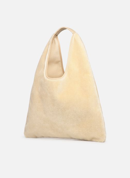 Handbags Arron FAKE REX Beige view from the right