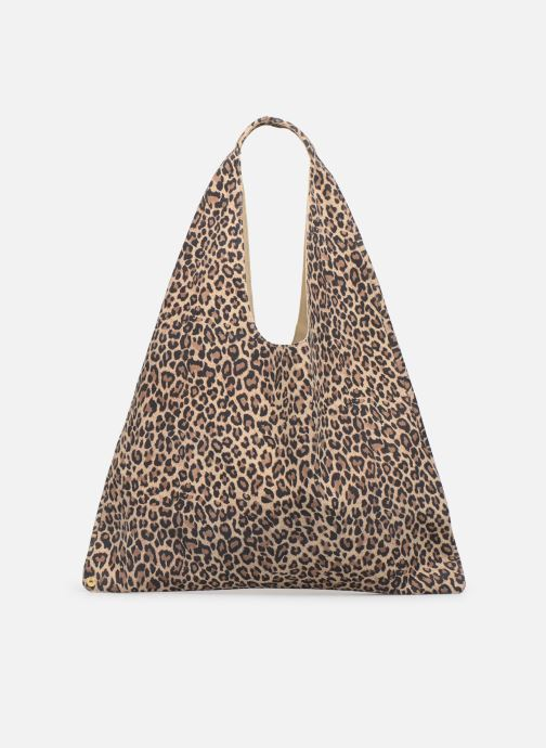 Sacs à main Arron LEOPARD SUEDE Marron vue face