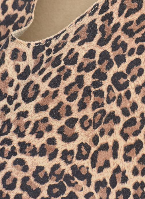 Bolsos de mano Arron LEOPARD SUEDE Marrón vista lateral izquierda