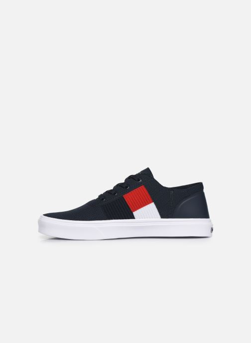 Sneakers Tommy Hilfiger LIGHTWEIGHT KNIT FLAG SNEAKER Blauw voorkant