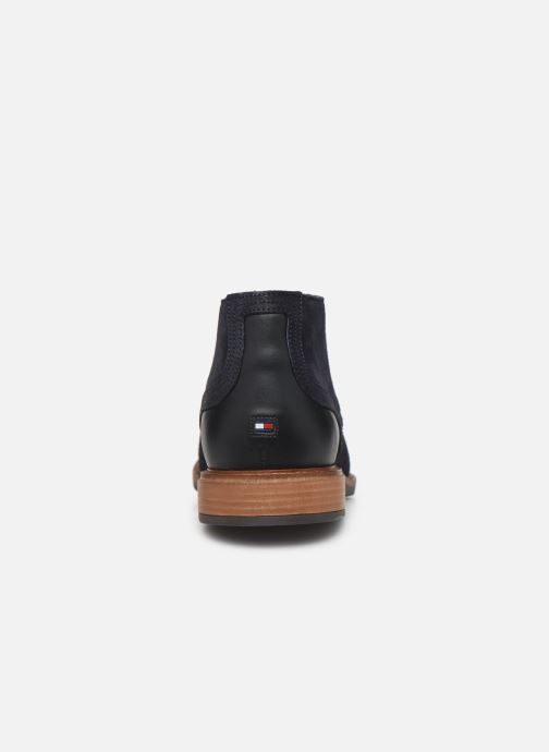 Botines  Tommy Hilfiger ELEVATED MATERIAL MIX BOOT Azul vista lateral derecha