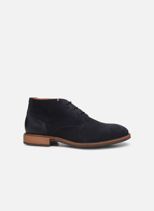 Boots en enkellaarsjes Tommy Hilfiger ELEVATED MATERIAL MIX BOOT Blauw achterkant