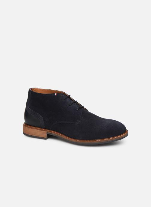 Ankelstøvler Tommy Hilfiger ELEVATED MATERIAL MIX BOOT Blå detaljeret billede af skoene