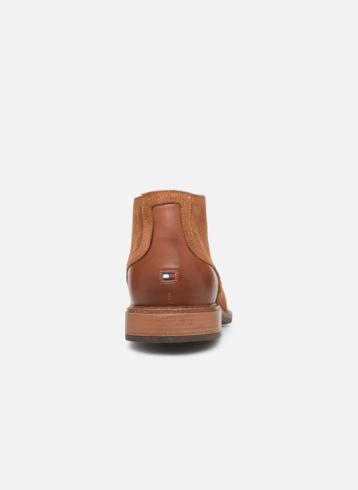 Botines  Tommy Hilfiger ELEVATED MATERIAL MIX BOOT Marrón vista lateral derecha