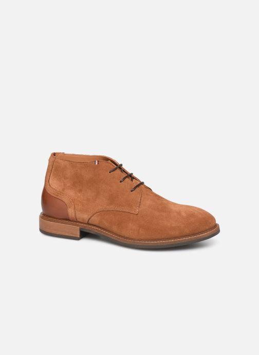 Bottines et boots Tommy Hilfiger ELEVATED MATERIAL MIX BOOT Marron vue détail/paire