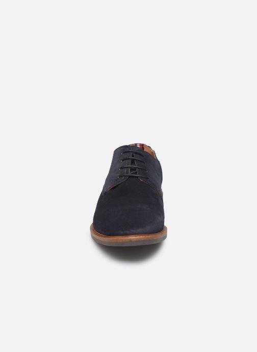 Chaussures à lacets Tommy Hilfiger ELEVATED MATERIAL MIX SHOE Bleu vue portées chaussures