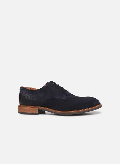 Chaussures à lacets Tommy Hilfiger ELEVATED MATERIAL MIX SHOE Bleu vue derrière