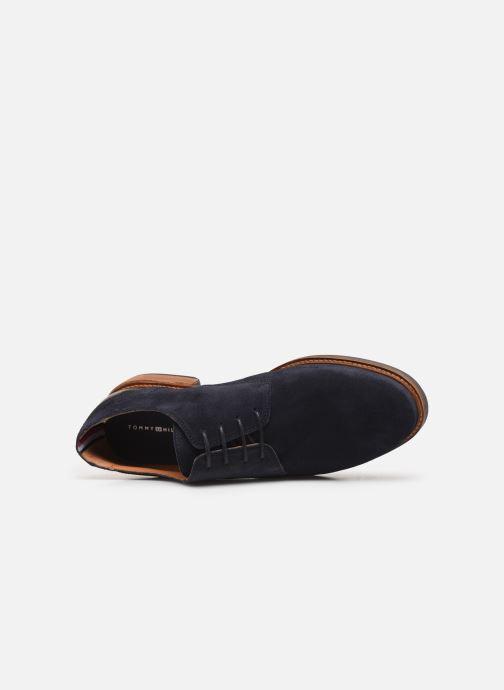 Chaussures à lacets Tommy Hilfiger ELEVATED MATERIAL MIX SHOE Bleu vue gauche