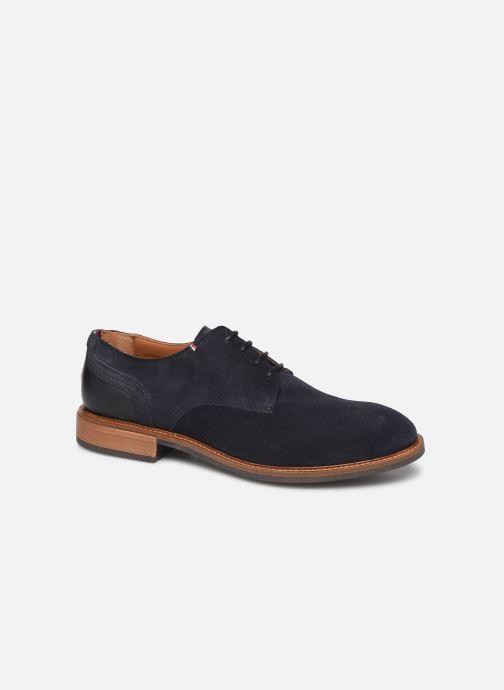 Chaussures à lacets Tommy Hilfiger ELEVATED MATERIAL MIX SHOE Bleu vue détail/paire