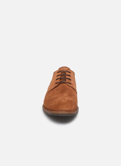 Chaussures à lacets Tommy Hilfiger ELEVATED MATERIAL MIX SHOE Marron vue portées chaussures