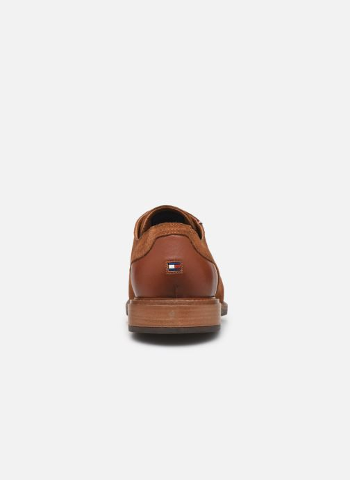 Chaussures à lacets Tommy Hilfiger ELEVATED MATERIAL MIX SHOE Marron vue droite