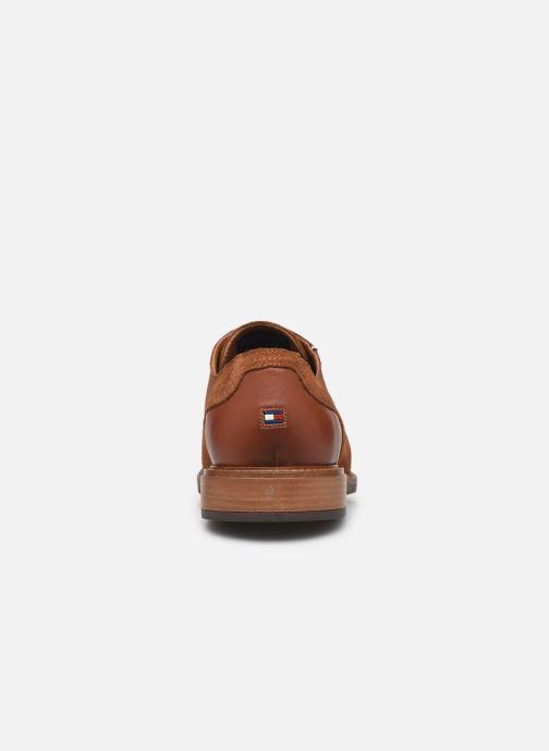 Chaussures à lacets Tommy Hilfiger ELEVATED MATERIAL MIX SHOE Marron vue droite