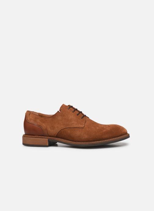 Chaussures à lacets Tommy Hilfiger ELEVATED MATERIAL MIX SHOE Marron vue derrière