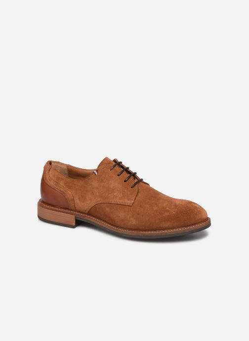 Chaussures à lacets Tommy Hilfiger ELEVATED MATERIAL MIX SHOE Marron vue détail/paire