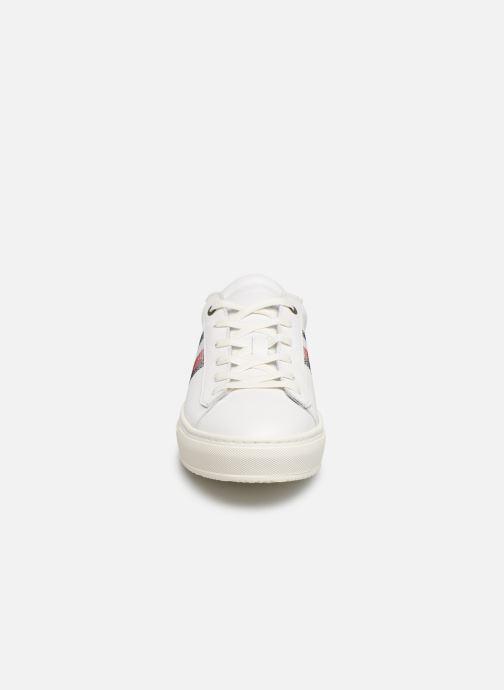 Baskets Tommy Hilfiger CLEAN PREMIUM CORPORATE CUPSOLE Blanc vue portées chaussures