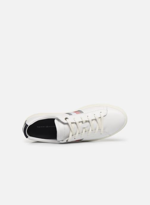 Trainers Tommy Hilfiger CLEAN PREMIUM CORPORATE CUPSOLE White view from the left