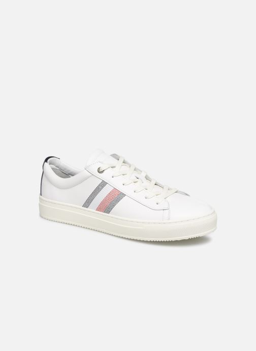 Trainers Tommy Hilfiger CLEAN PREMIUM CORPORATE CUPSOLE White detailed view/ Pair view