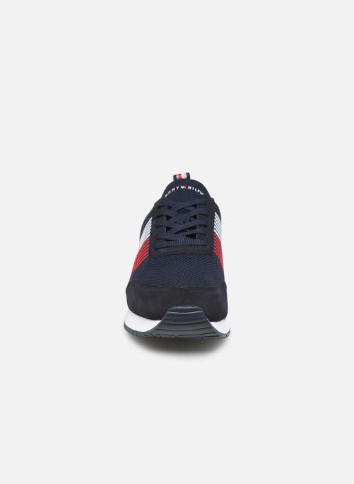 Sneakers Tommy Hilfiger EVA KNIT RUNNER Blauw model