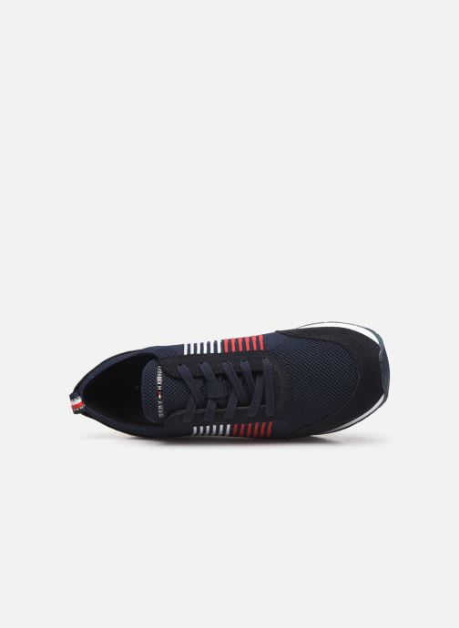 Sneakers Tommy Hilfiger EVA KNIT RUNNER Blauw links