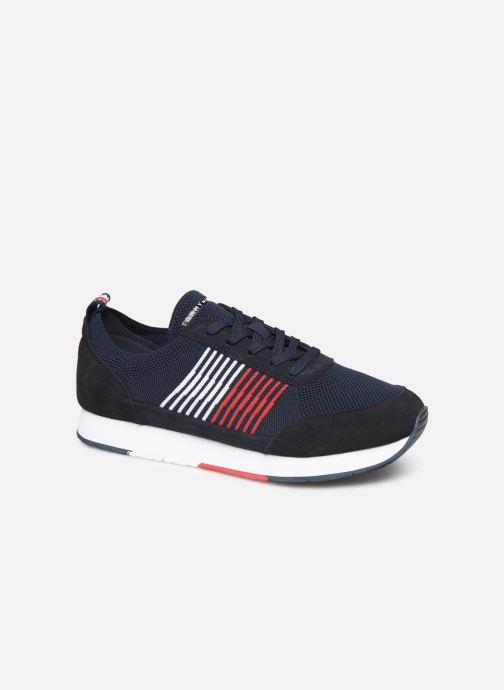 Sneakers Tommy Hilfiger EVA KNIT RUNNER Blå detaljeret billede af skoene
