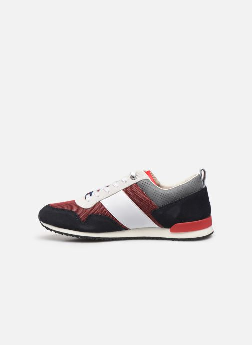 Baskets Tommy Hilfiger ICONIC MATERIAL MIX RUNNER Rouge vue face