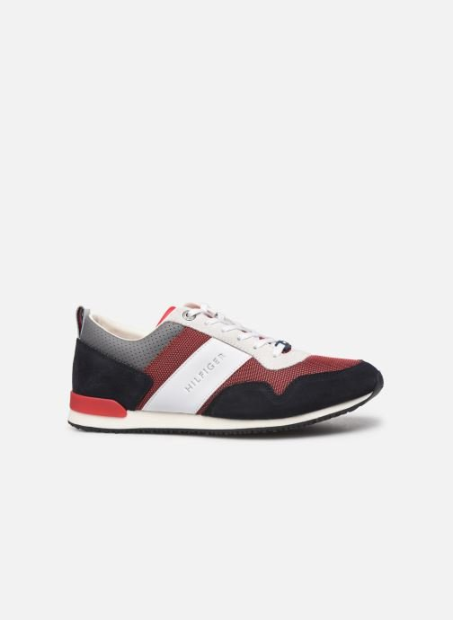 Sneakers Tommy Hilfiger ICONIC MATERIAL MIX RUNNER Rød se bagfra