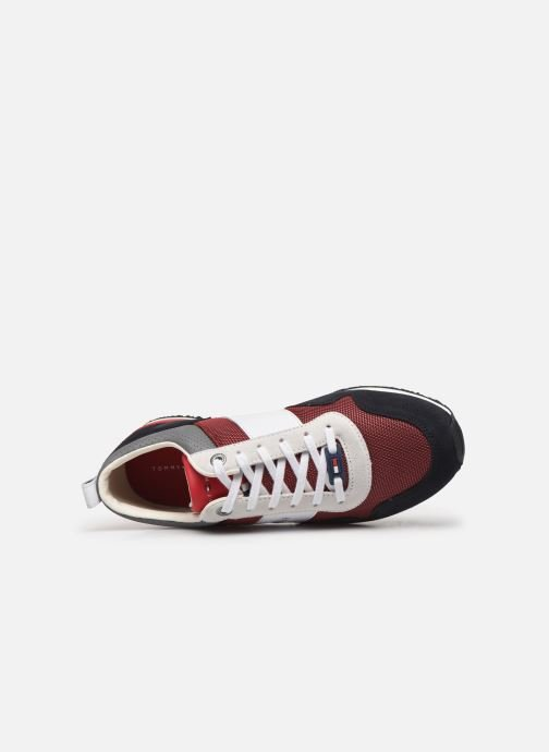 Baskets Tommy Hilfiger ICONIC MATERIAL MIX RUNNER Rouge vue gauche