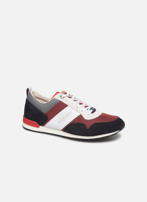 Baskets Tommy Hilfiger ICONIC MATERIAL MIX RUNNER Rouge vue détail/paire