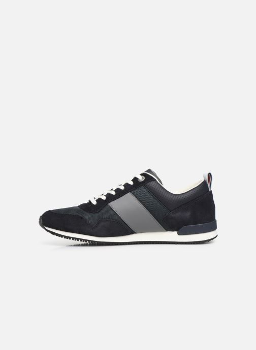 Sneakers Tommy Hilfiger ICONIC MATERIAL MIX RUNNER Blauw voorkant