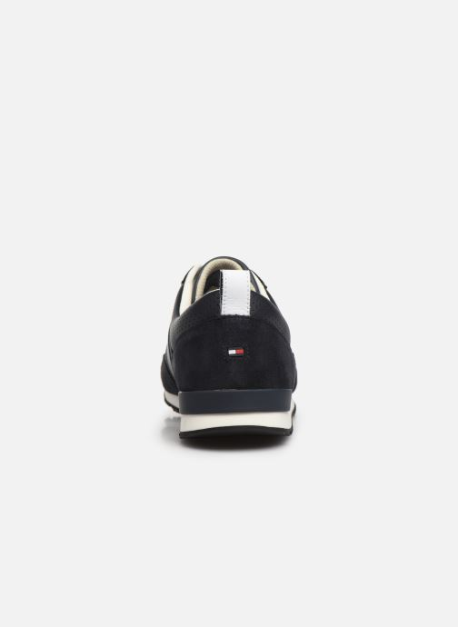 Baskets Tommy Hilfiger ICONIC MATERIAL MIX RUNNER Bleu vue droite