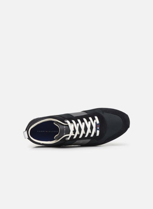 Sneakers Tommy Hilfiger ICONIC MATERIAL MIX RUNNER Blauw links