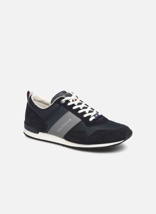 Sneakers Tommy Hilfiger ICONIC MATERIAL MIX RUNNER Blauw detail
