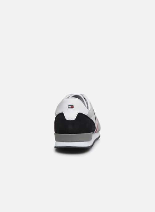 Baskets Tommy Hilfiger ICONIC MATERIAL MIX RUNNER Gris vue droite