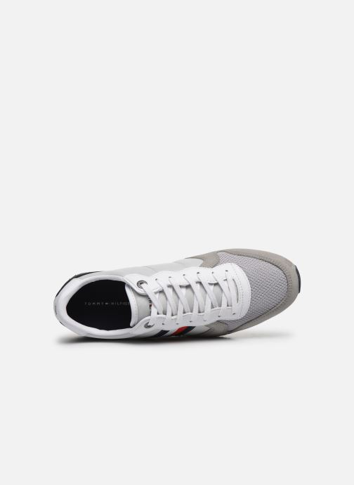 Trainers Tommy Hilfiger ICONIC MATERIAL MIX RUNNER Grey view from the left