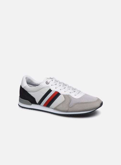 Trainers Tommy Hilfiger ICONIC MATERIAL MIX RUNNER Grey detailed view/ Pair view