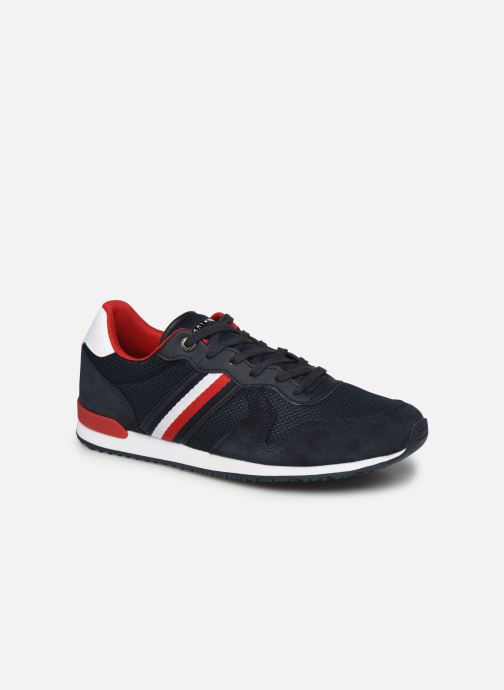 Sneaker Tommy Hilfiger ICONIC MATERIAL MIX RUNNER blau detaillierte ansicht/modell