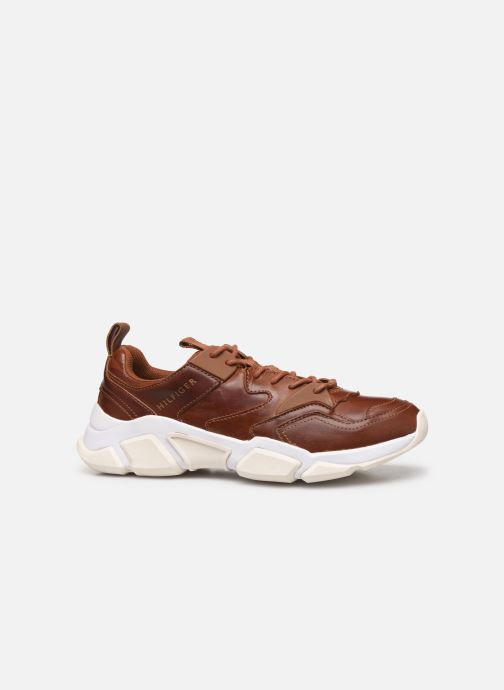 Deportivas Tommy Hilfiger CHUNKY LEATHER RUNNER Marrón vistra trasera