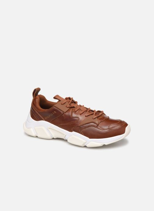 Baskets Tommy Hilfiger CHUNKY LEATHER RUNNER Marron vue détail/paire