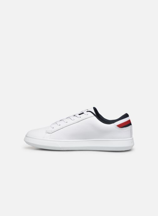 Sneakers Tommy Hilfiger ESSENTIAL LEATHER DETAIL CUPSOLE Hvid se forfra