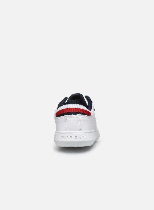 Sneakers Tommy Hilfiger ESSENTIAL LEATHER DETAIL CUPSOLE Hvid Se fra højre