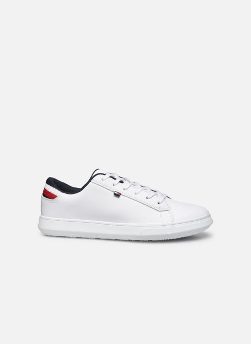 Sneakers Tommy Hilfiger ESSENTIAL LEATHER DETAIL CUPSOLE Hvid se bagfra
